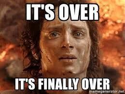 Επιτέλους….Τέλος